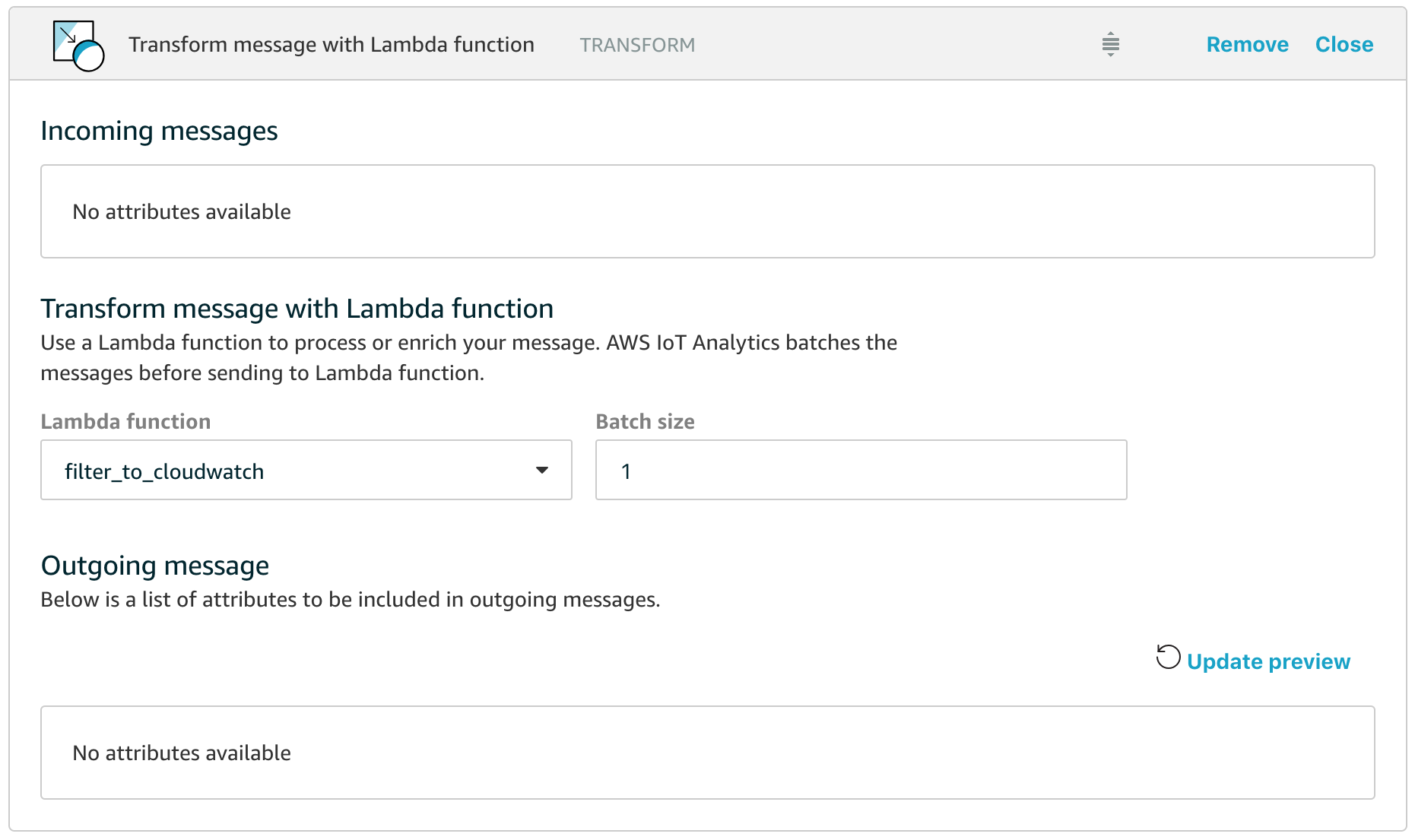 Realtime metrics with AWS IoT Analytics and CloudWatch – The